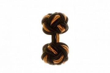 Black & Camel Silk Cuffknots - 1