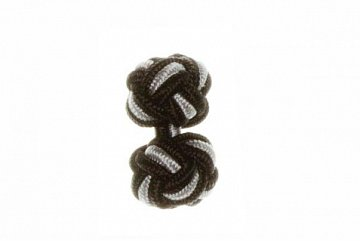 Black & Grey Silk Cuffknots - 1