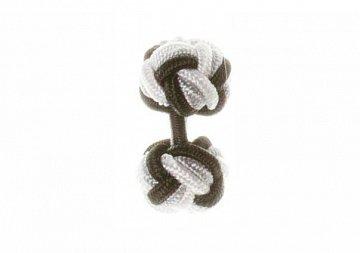 Black, Grey & White Silk Cuffknots - 1