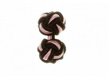 Black & Pink Silk Cuffknots - 1