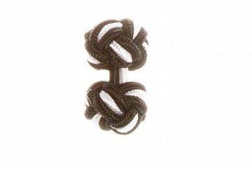 Black & White Silk Cuffknots - 1