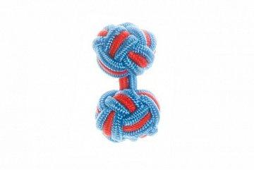 Blue & Red Silk Cuffknots - 1