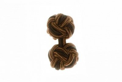 Brown & Black Silk Cuffknots