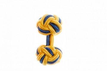 Buttercup Yellow & Royal Blue Silk Cuffknots - 1