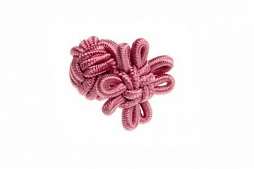 Candy Pink Flower Shaped Silk Cuffknots - 1
