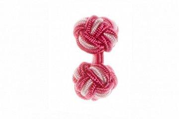 Dark Pink & Light Pink Silk Cuffknots - 1
