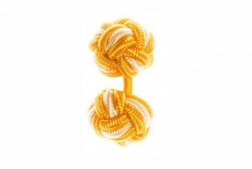 Gold & Yellow Silk Cuffknots - 1