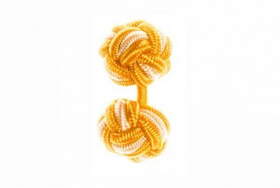 Gold & Yellow Silk Cuffknots