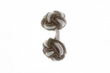 Graphite Grey & Grey Cuffknots Silk Knot Cufflinks - 1