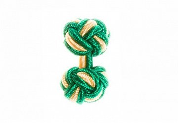 Green & Yellow Silk Cuffknots - 1
