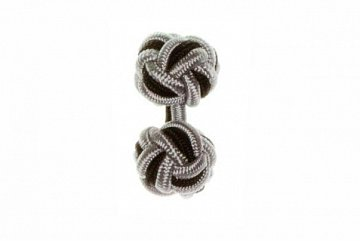 Grey & Black Cuffknots Silk Knot Cufflinks - 1