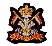 Hand Embroidered Heraldic Blazer Badge Crest With Gold & Silver Bullion Wire