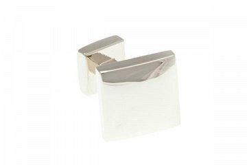 Hladké lesklé stříbrné oboustranné manžetové knoflíčky - 1