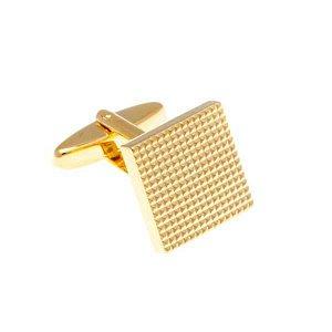 Industriální manžetové knoflíčky s vroubkovaným designem ve zlaté barvě - 2