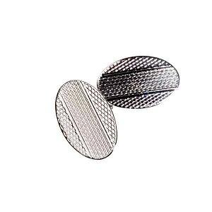Klasické řetízkové manžetové knoflíčky s gravírovanými detaily - 1