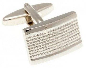Lesklé kovové manžetové knoflíčky s industriálním vzorem - 1