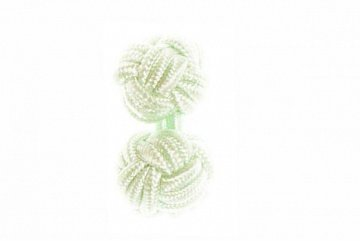 Light Green Silk Cuffknots - 1