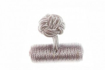Light Grey Barrel Silk Cuffknots - 1