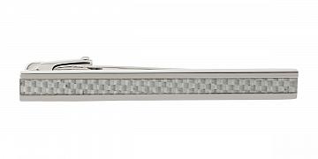 Luxusní designová spona na kravatu s detailem z bílého karbonového vlákna - 1