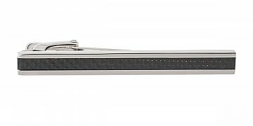 Luxusní designová spona na kravatu s detailem z černého karbonového vlákna