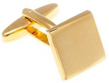 Manžetové knoflíčky s broušeným efektem lesk-mat ve zlaté barvě - 1