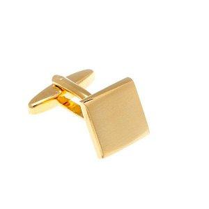 Manžetové knoflíčky s broušeným efektem lesk-mat ve zlaté barvě - 2