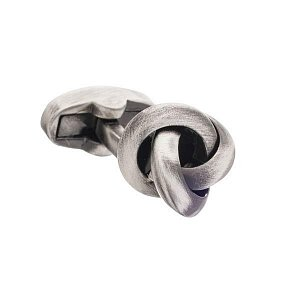 Manžetové knoflíčky ve tvaru masivního uzle s efektem starobylého kovu - 2