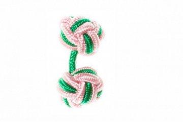 Pink & Green Silk Cuffknots - 1