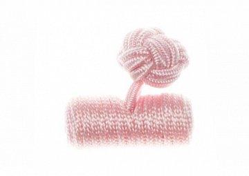 Plain Pink Barrel Silk Cuffknots - 1