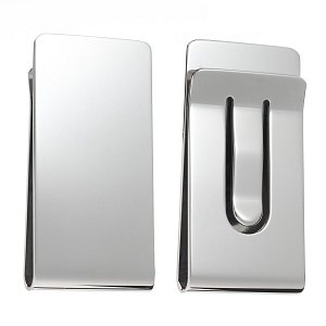 Plain, Polished Metal Money Clip - 1