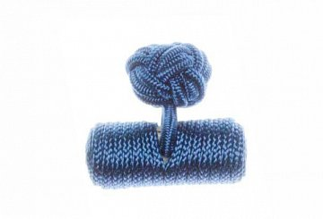Plain Royal Blue Barrel Silk Cuffknots - 1