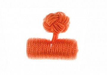 Plain Tango Orange Barrel Silk Cuffknots - 1