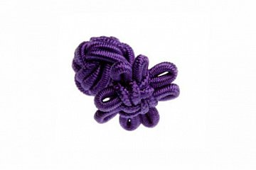 Purple Flower Shaped Cuffknots Silk Knot Cufflinks - 1