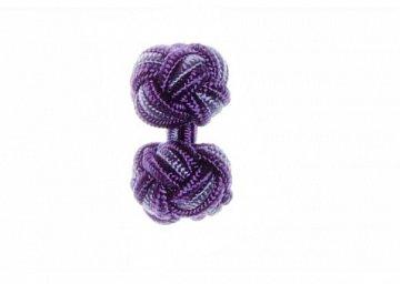 Purple & Lilac Pink Cuffknots Silk Knot Cufflinks - 1