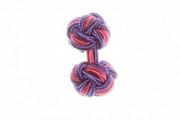 Purple & Pink Silk Cuffknots - 1