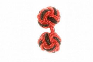 Red & Black Silk Cuffknots - 1