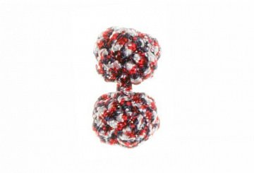Red & Navy Blue Cuffknots Silk Knot Cufflinks - 1
