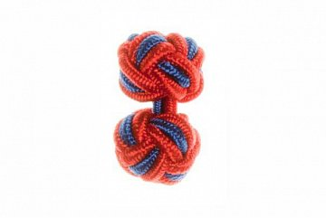 Red & Royal Blue Silk Cuffknots - 1