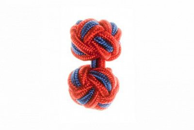 Red & Royal Blue Silk Cuffknots