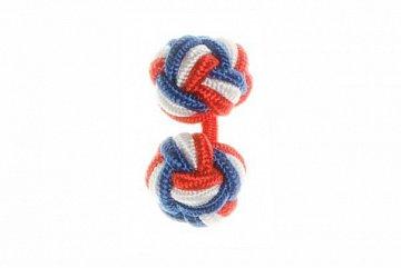Red, White and Blue Silk Cuffknots - 1