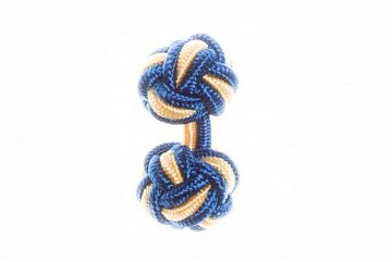 Royal Blue & Yellow Silk Cuffknots - 1