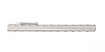 Stříbrná spona na kravatu s konturami ve tvaru vlnek