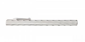 Stříbrná spona na kravatu s konturami ve tvaru vlnek - 1