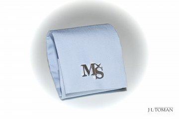 Stříbrné manžetové knoflíčky s monogramem Ag 925 ct - 1
