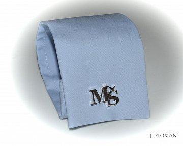 Stříbrné manžetové knoflíčky s monogramem Ag 925 ct - 3