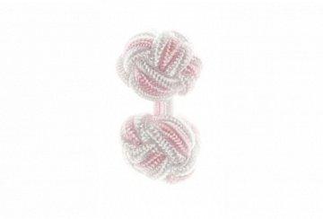 White & Pink Silk Cuffknots - 1